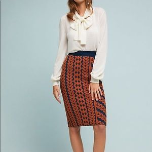 Maeve by Anthropologie Pencil Skirt Sz L